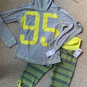Oshkosh Outfit Leggings Hoodie Shirt 10 New Girls